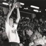 JF De Sart soulevant la coupe de Belgique en 1990