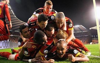 15 jeunes Rouge et Bleu au Stade Roi Baudouin !