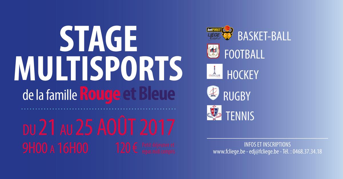La Famille Rouge et Bleue organise son 1er stage multisports !