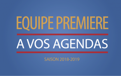 DECOUVREZ LE CALENDRIER 2018-2019