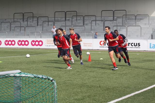 Premier entraînement de l'équipe première en images…