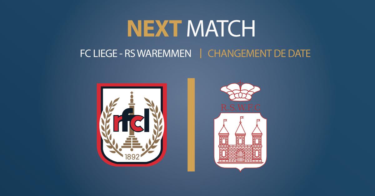 RFCL – RS Waremmien FC | Modification de calendrier demandée