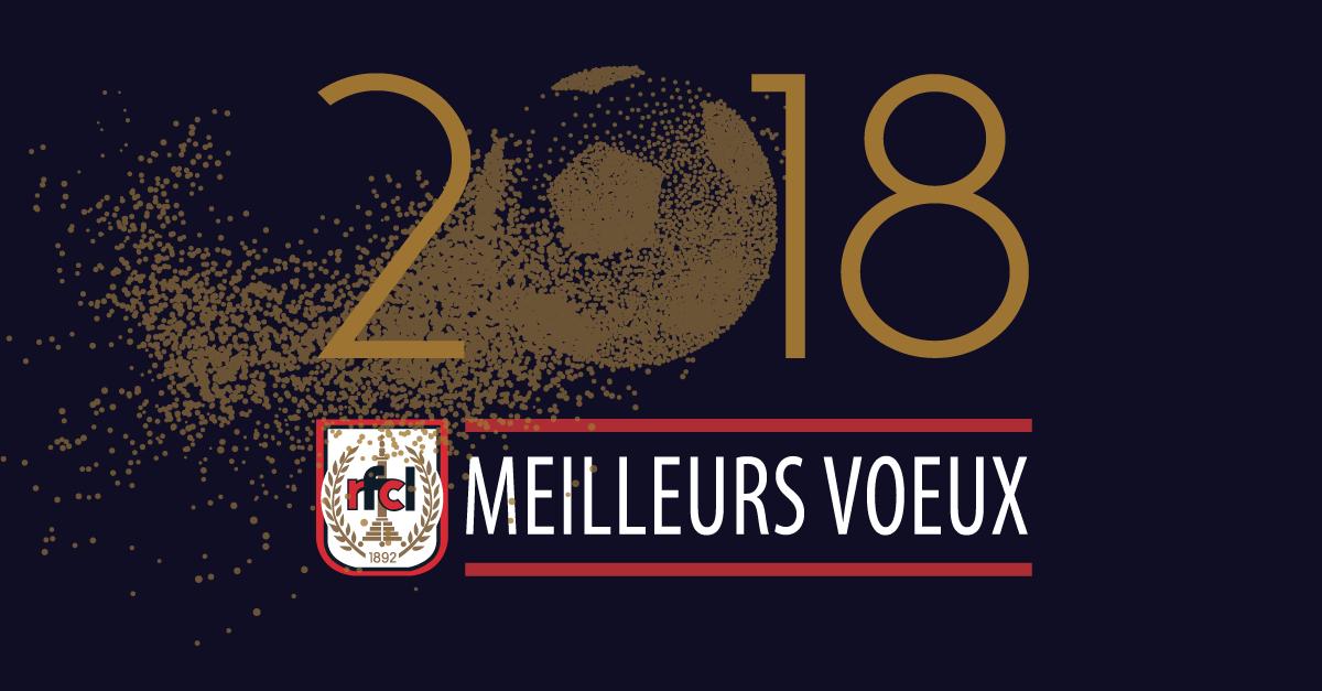 Les joueurs, le staff et la direction du RFC Liège vous présentent leurs meilleurs voeux pour 2018 !