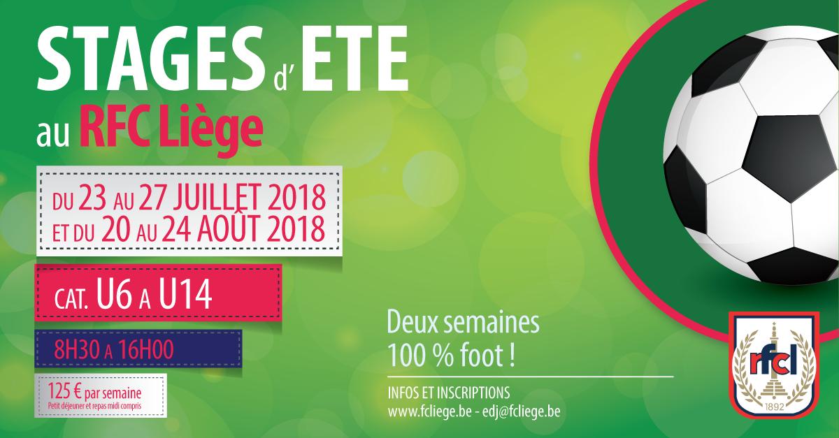 Rejoins-nous aux stages d'été du RFC Liège !