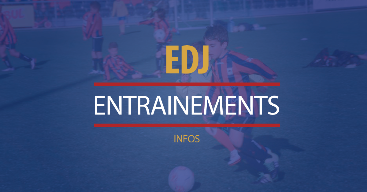 ENTRAINEMENTS ANNULES CE MARDI 7 AOUT