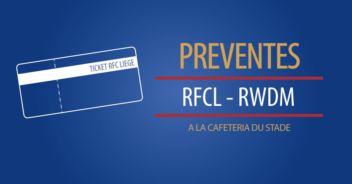 RFCL – RWDM | NOUVELLES PREVENTES CES VENDREDI ET SAMEDI