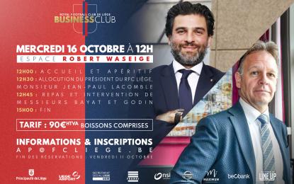 Business Club 1892 | 16.10 | Avec Mehdi Bayat et Philippe Godin