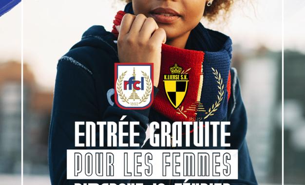 RFCL-Lierse | 16.02 | Places offertes pour les femmes + prévente