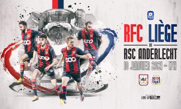 Coupe   RFC Liège-Anderlecht le 10 janvier à 17h