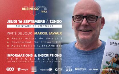 Business Club 1892 | Le 16/09 avec Marcel Javaux