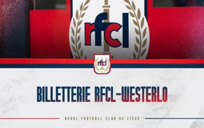 Billetterie   RFCL-Westerlo à guichets fermés