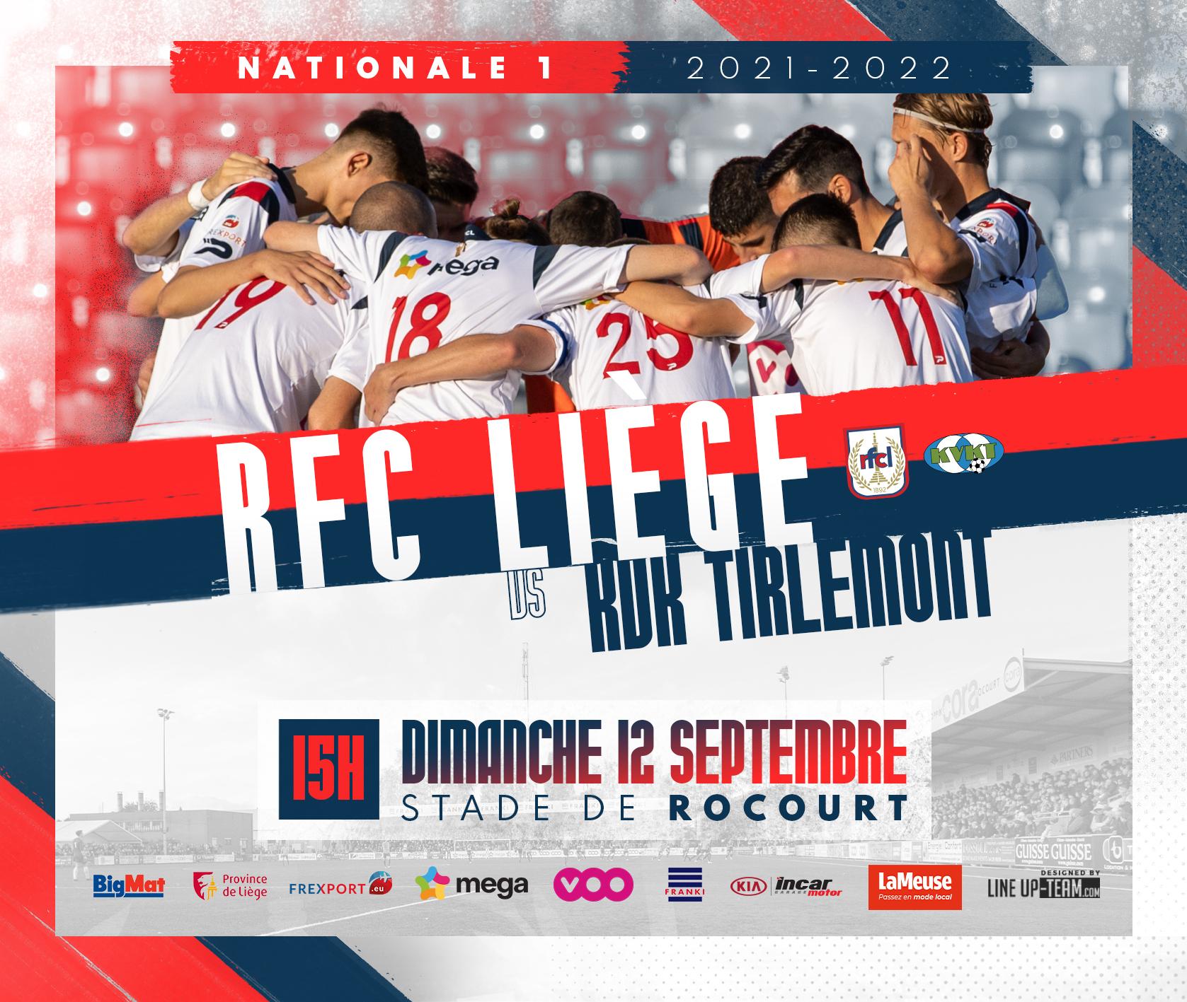 Billetterie | RFC Liège-Tirlemont (12/09)