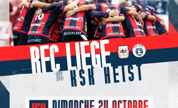 Billetterie | Prévente pour RFC Liège-Heist