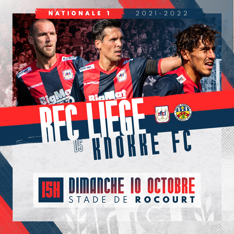 Billetterie   Prévente pour RFC Liège-Knokke