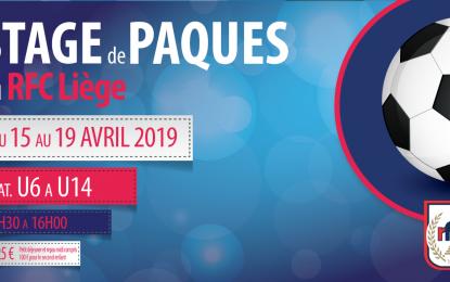STAGE DE PAQUES   DU 15 AU 19 AVRIL 2019