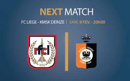 Espace VIP   RFC Liège – Deinze   Samedi 09.02.2019   20h00