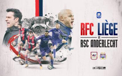 Liège-Anderlecht   Mercredi 3 février à 21h15