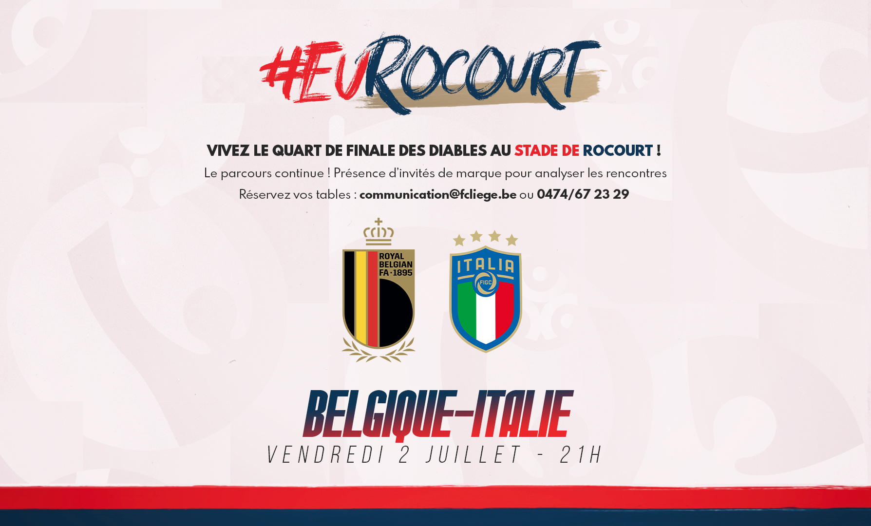 Évènement   Belgique-Italie à Rocourt ! (sold out)